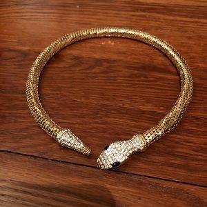 Gold Snake Choker
